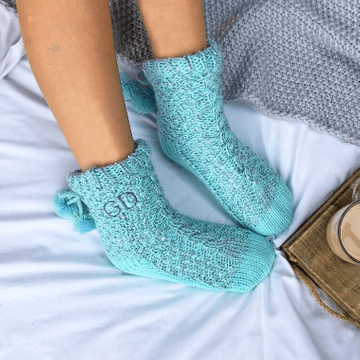 Personalised Cable Knit Slippers