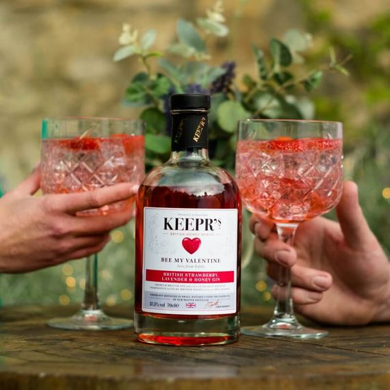 Personalised British Strawberry, Lavender And Honey Gin