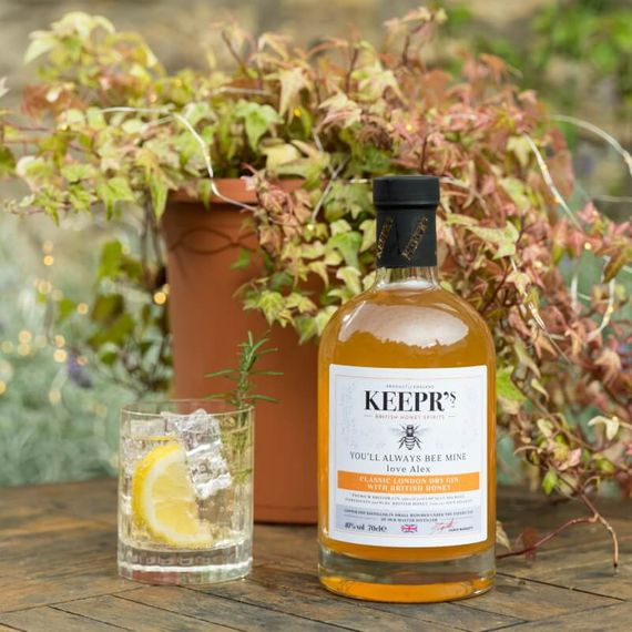 Personalised Classic London Dry Gin With British Honey