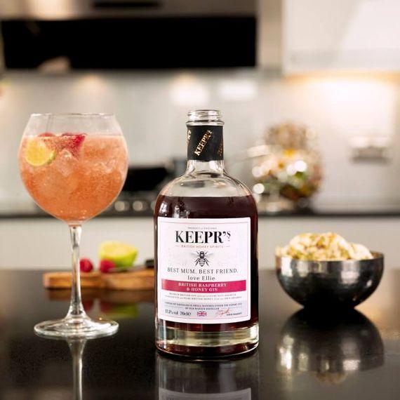 Personalised British Raspberry And Honey Gin