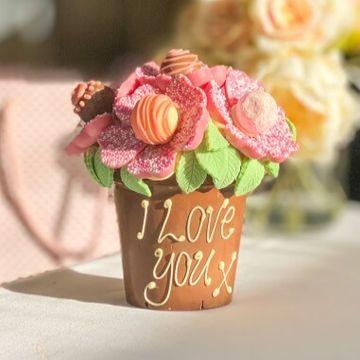 Personalised Smash Flower Pot - Pink