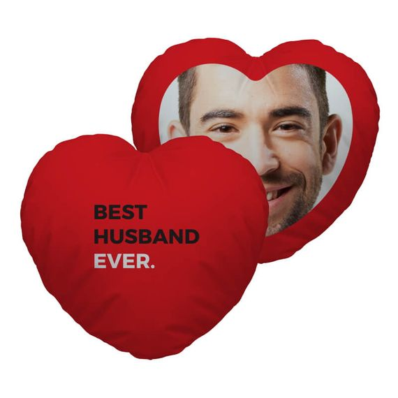 Personalised Best Husband Ever Heart Cushion