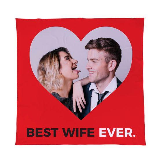 Personalised Best Wife Ever Fleece Throw