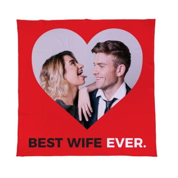 Personalised Best Wife Ever Fleece Throw
