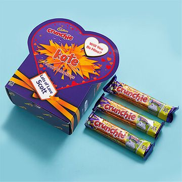 Personalised Valentines Favorites Box - Crunchie