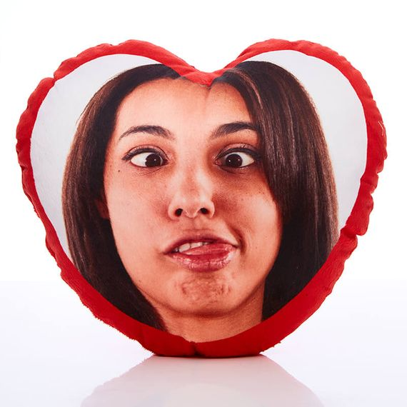 Personalised Best Girlfriend Ever Heart Cushion