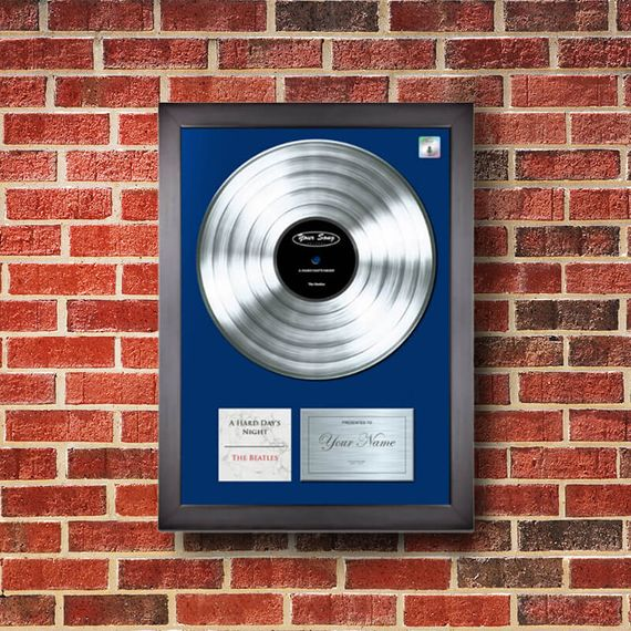 Personalised 'Your Song' Poster Platinum