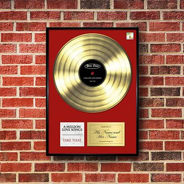 Personalised 'Your Song' Poster Gold