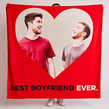 Personalised Best Boyfriend Ever Fleece Throw