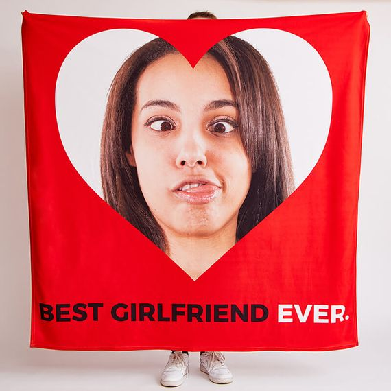 Personalised Best Girlfriend Ever Fleece Throw