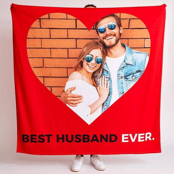 Personalised Best Husband Ever Fleece Throw