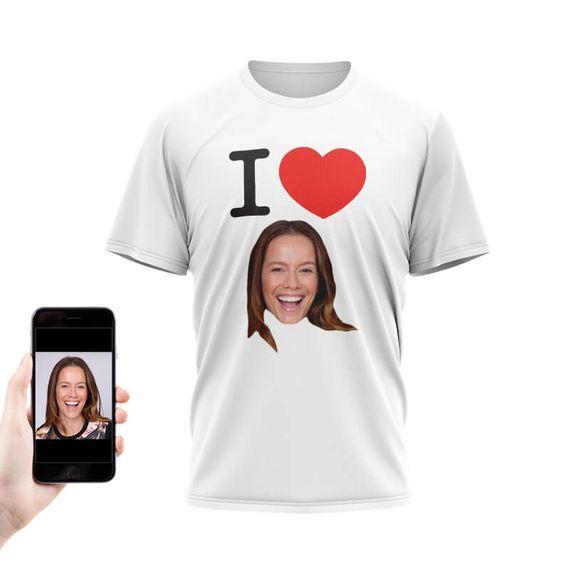 Personalised I Heart Photo T-Shirt