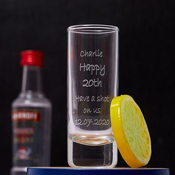 Personalised Birthday Shot Glass - Engraved