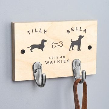 Personalised Double Dog Lead Hook