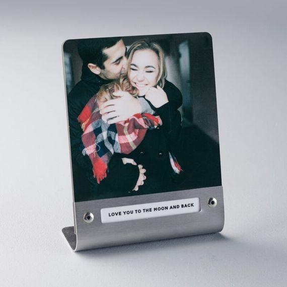 Personalised Metal Photo Print - Silver