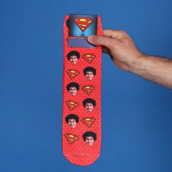 Personalised Superman Face Socks