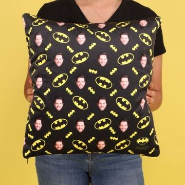 Personalised Batman Face Photo Cushion