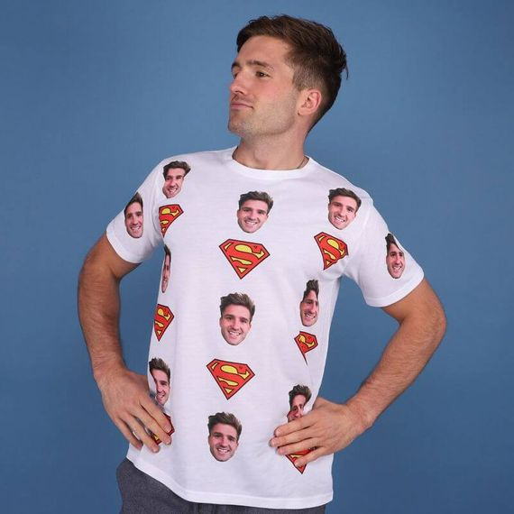 Personalised Superman Face T-Shirt