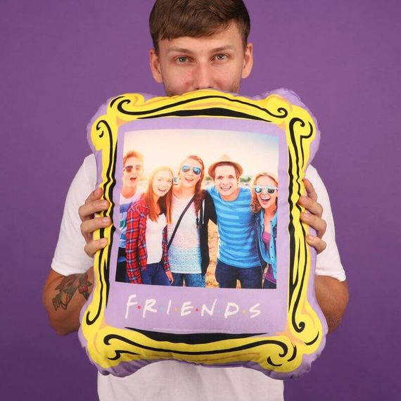 Personalised Friends Frame Photo Cushion