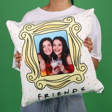 Personalised Friends Frame Dotty Photo Cushion