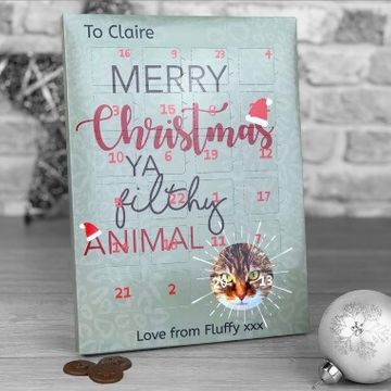 Personalised Filthy Animal Photo Upload Advent Calendar