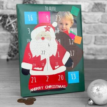 Personalised Santa Photo Upload Advent Calendar