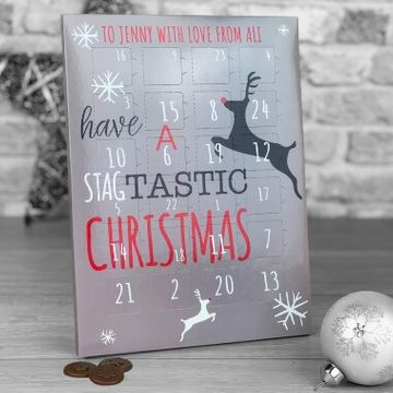 Personalised Stagtastic Chocolate Advent Calendar