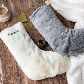 Personalised Faux Fur Christmas Stocking