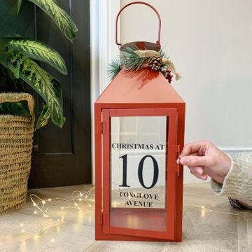 Personalised Family Christmas Lantern