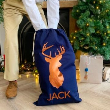 Personalised Stag Present Sack