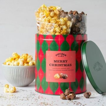 Merry Christmas Popcorn Gift Tin