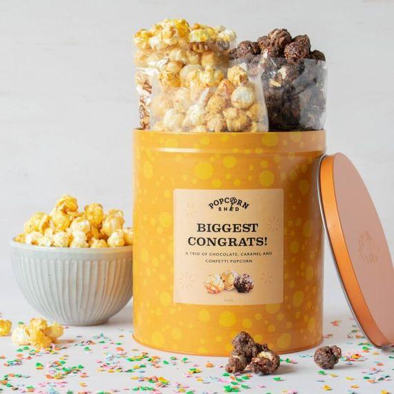 Biggest Congrats Popcorn Gift Tin