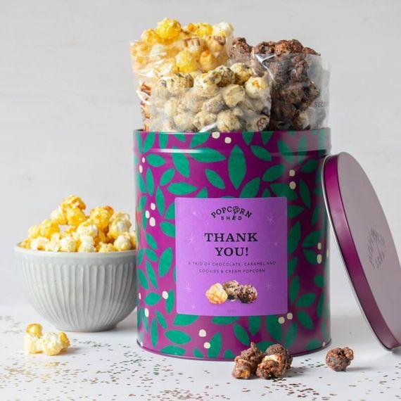 Thank You Popcorn Gift Tin