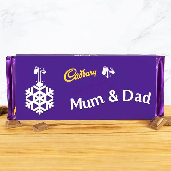 Personalised Cadbury Christmas Emoji Chocolate Bar - 360g