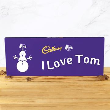 Personalised Cadbury Christmas Emoji Chocolate Bar - 850g