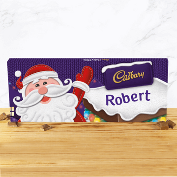 Personalised Cadbury Santa Chocolate Bar - 850g