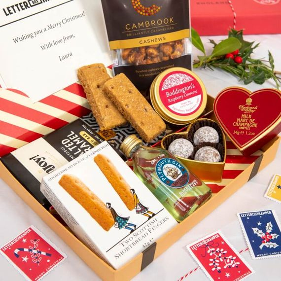 Personalised Luxury Christmas Letter Box Hamper