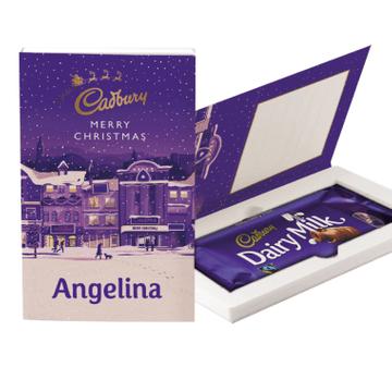 Personalised Cadbury Classic Christmas Chocolate Gift Card - 110g