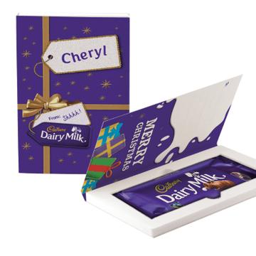 Personalised Cadbury Present Chocolate Gift Card - 110g