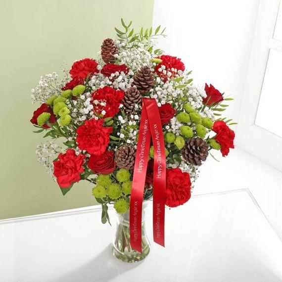 Personalised Luxury Happy Christmas Bouquet