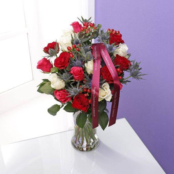 Personalised Christmas Roses