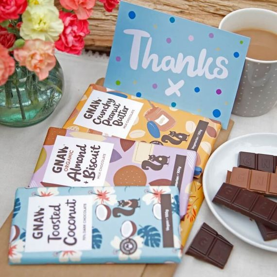 Personalised Gnaw Thank You Letterbox Chocolates