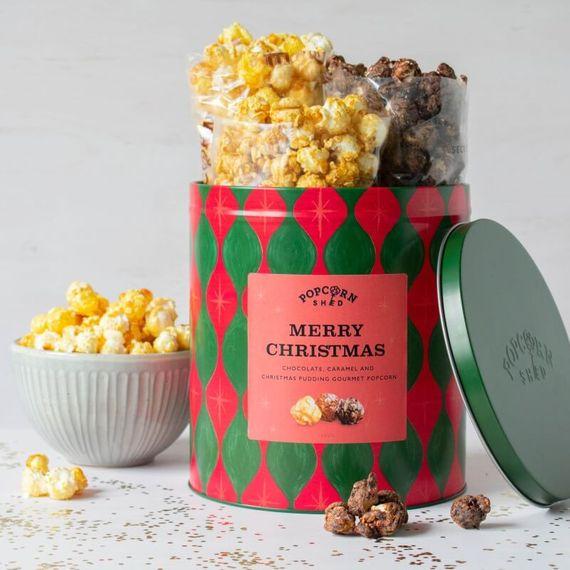 Merry Christmas Popcorn Gift Tin