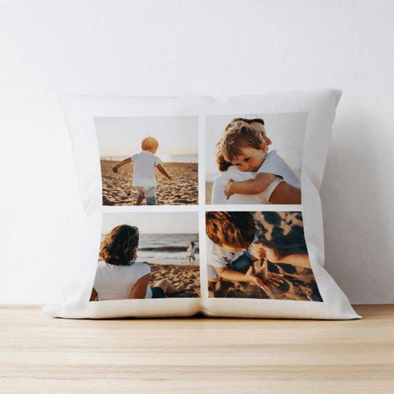 Personalised 4 Photo Cushion