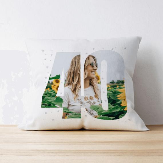 Personalised 40 Photo Cushion - Single Image