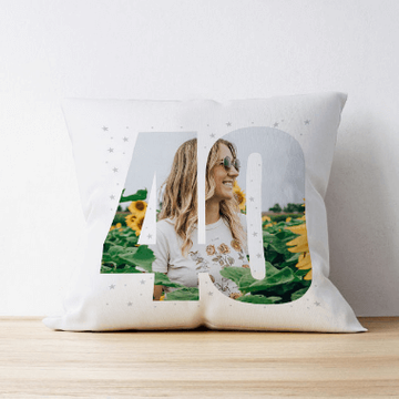 Personalised 40 Photo Cushion - Single Image