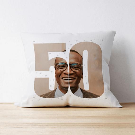 Personalised 50 Photo Cushion - Single Image