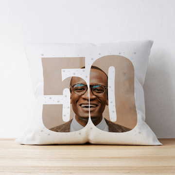 Personalised 50 Photo Cushion - Single Image