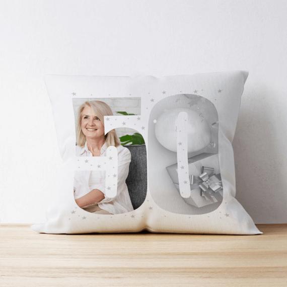 Personalised 50 Photo Cushion - Multi Image