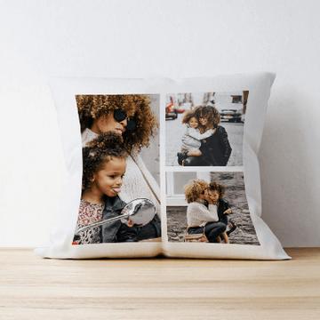 Personalised 3 Photo Cushion